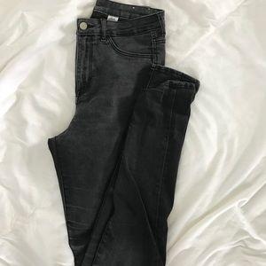 H&M Faded Black High-Waist Jeggings